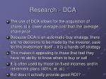 research dca