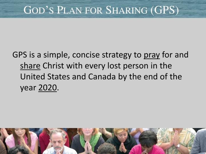 God s plan for sharing gps3