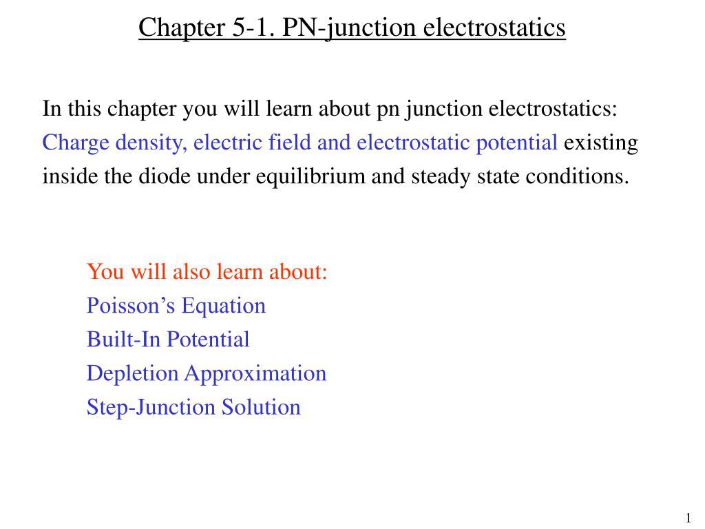 Ppt Chapter 5 1 Pn Junction Electrostatics Powerpoint Understanding The N