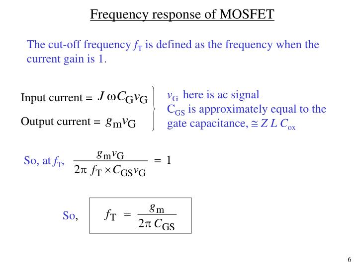 Frequency response of MOSFET