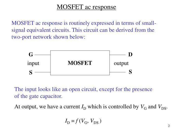 Mosfet ac response