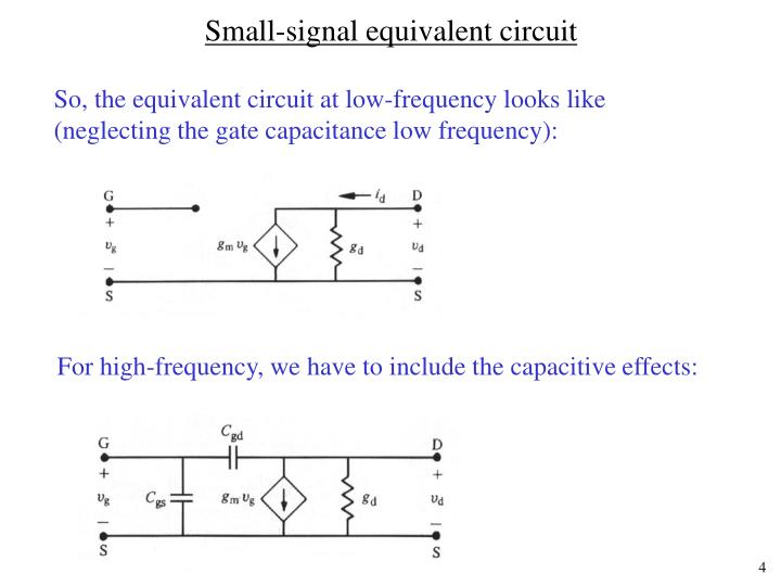 Small-signal equivalent circuit