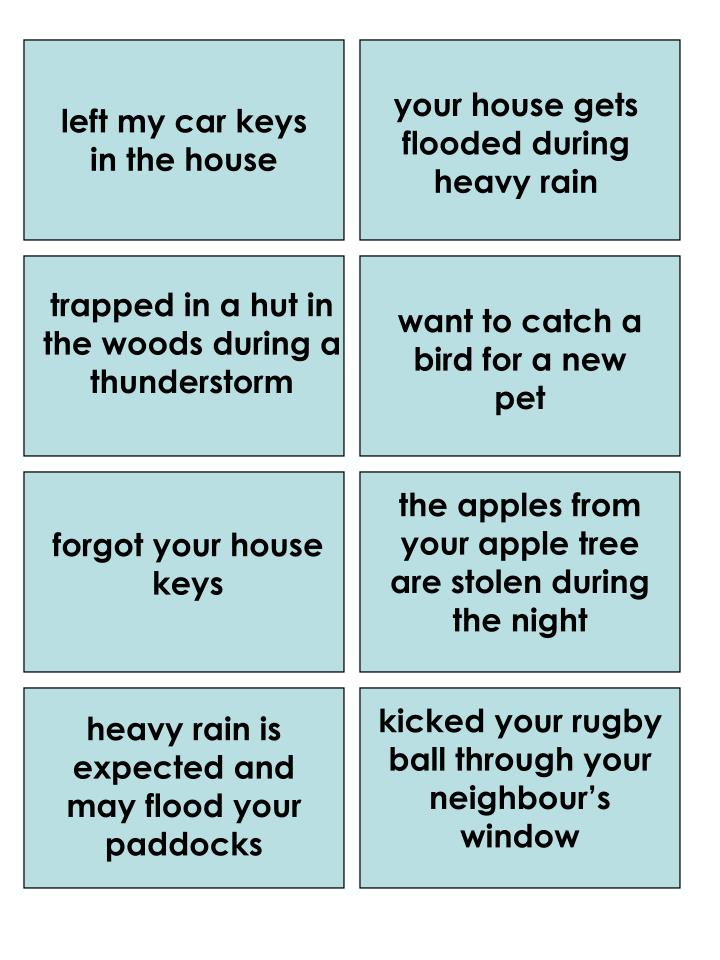your house gets flooded during heavy rain