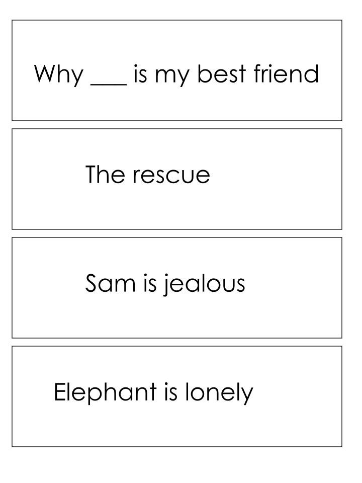 Why ___ is my best friend