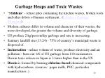garbage heaps and toxic wastes