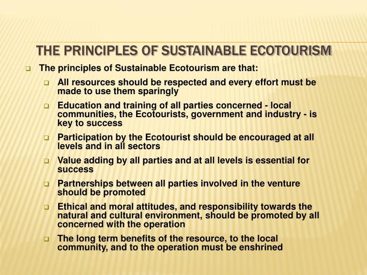 principles of ecotourism