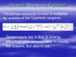 climate response function25