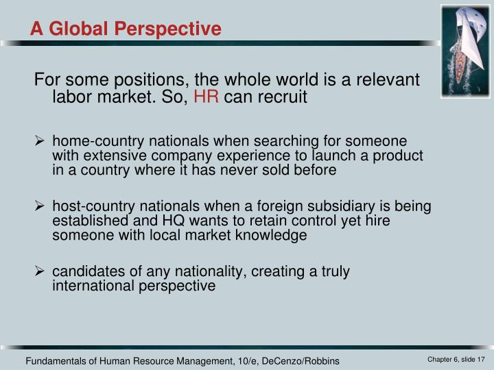 For some positions, the whole world is a relevant labor market. So,