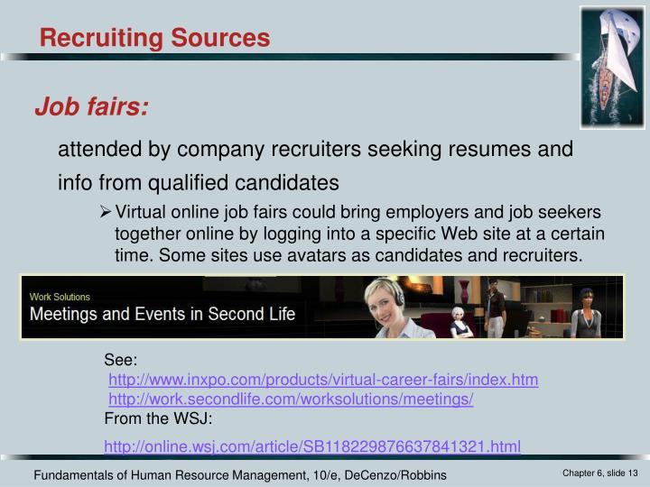 Job fairs: