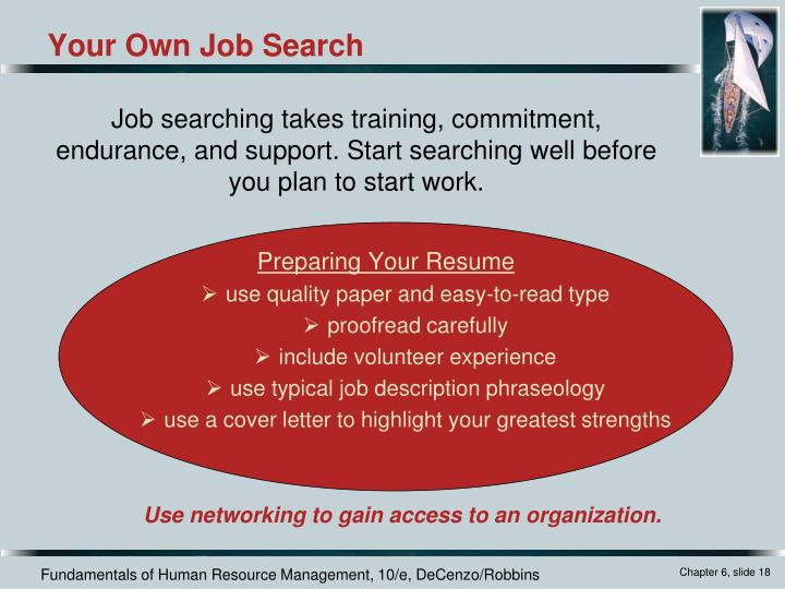 Preparing Your Resume