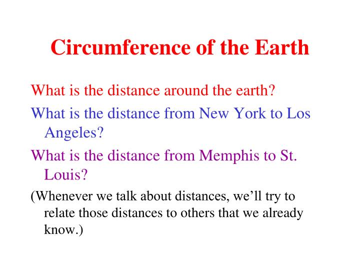 circumference of the earth n.