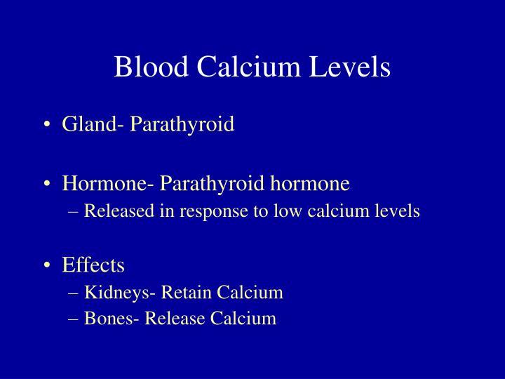 Blood Calcium Levels