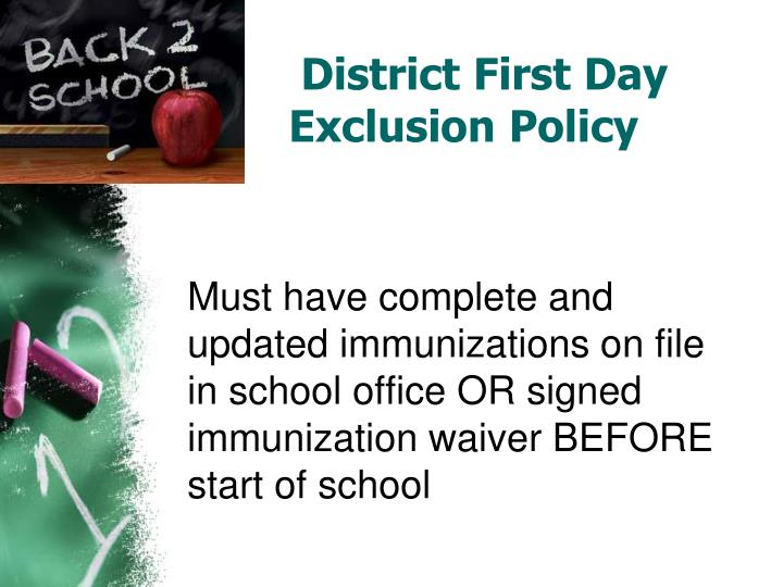 District First Day