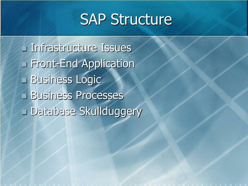 SAP Structure