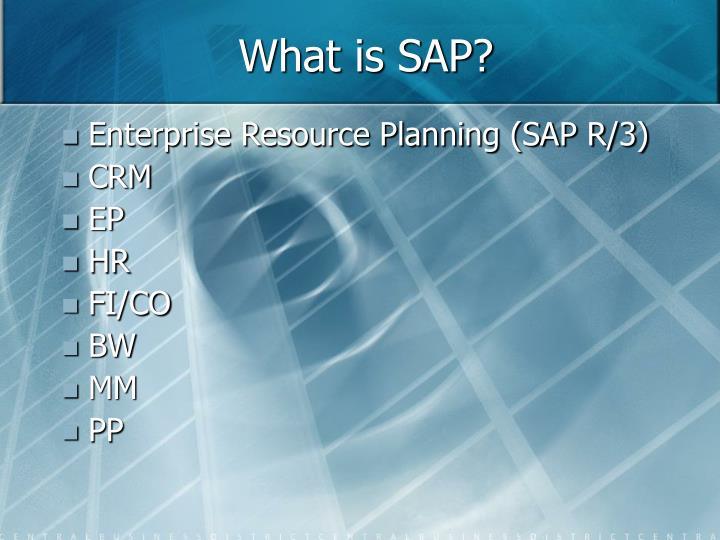 What is sap