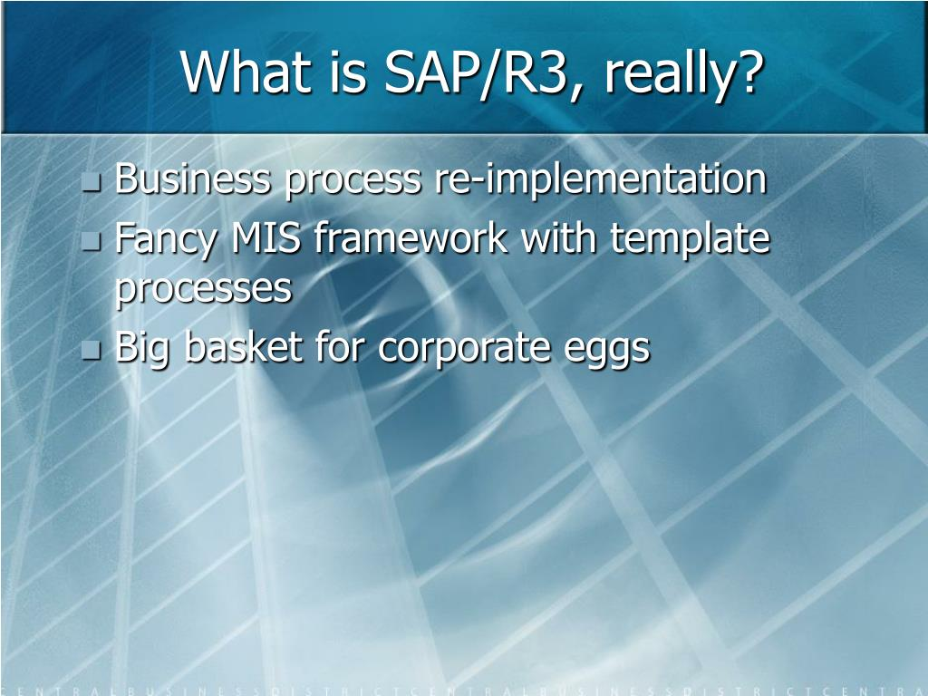 What is SAP/R3, really?