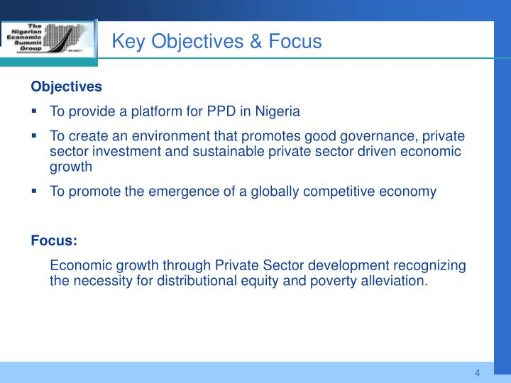 Key Objectives & Focus