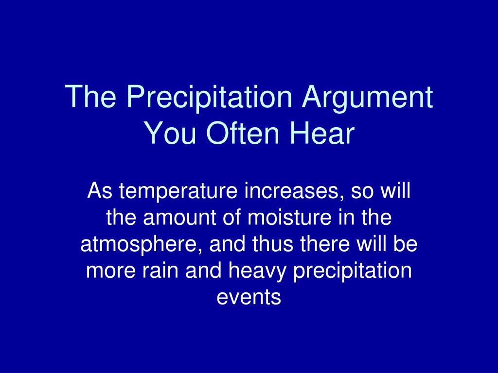 The Precipitation Argument