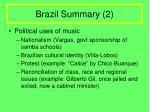 brazil summary 2