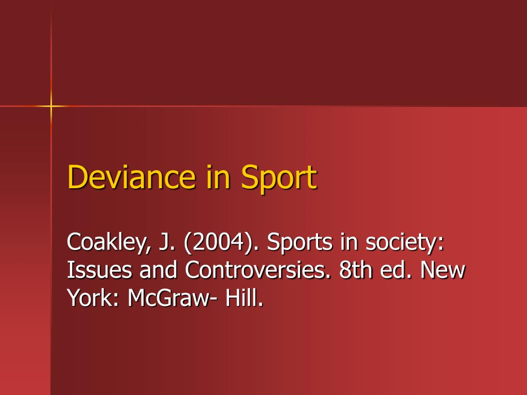 deviance in sport l.