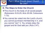 part i what should jesus church be like11