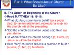 part i what should jesus church be like7