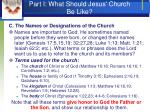 part i what should jesus church be like9