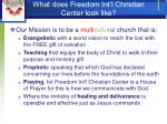 what does freedom int l christian center look like