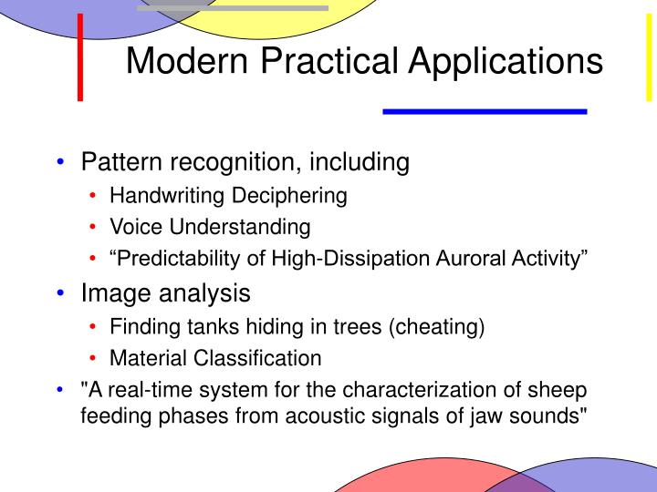 Modern Practical Applications