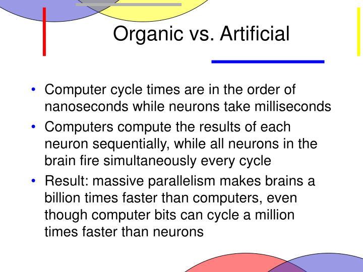 Organic vs. Artificial