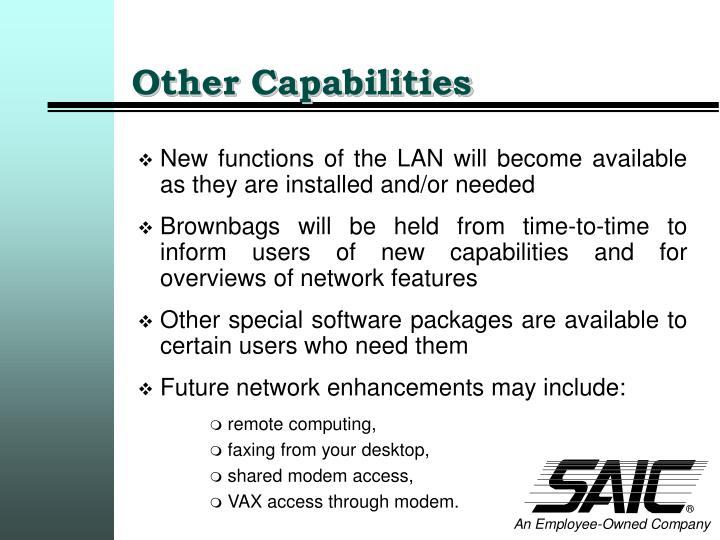 Other Capabilities