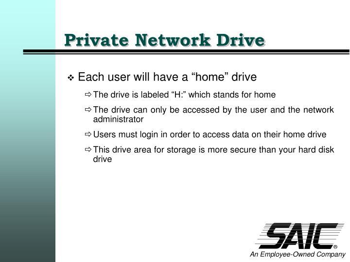 Private Network Drive