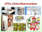 cfcs chlorofluorocarbon