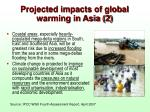 projected impacts of global warming in asia 2