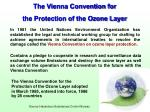 the vienna convention for the protection of the ozone layer