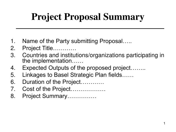 ppt project proposal summary powerpoint presentation id 1487619