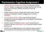 psychomotor cognitive assignment i