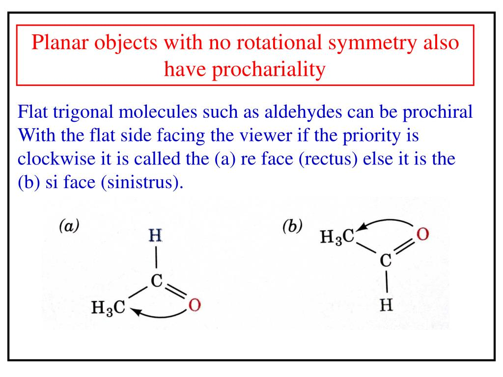Planar objects with no rotational symmetry also have prochariality