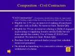 composition civil contractors