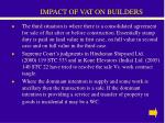 impact of vat on builders32