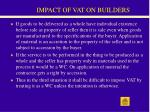 impact of vat on builders33