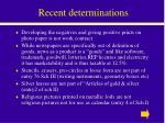 recent determinations
