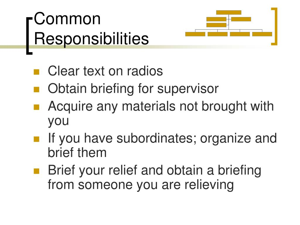 Common Responsibilities