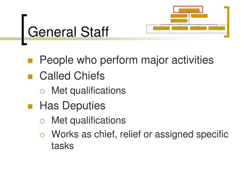 General Staff