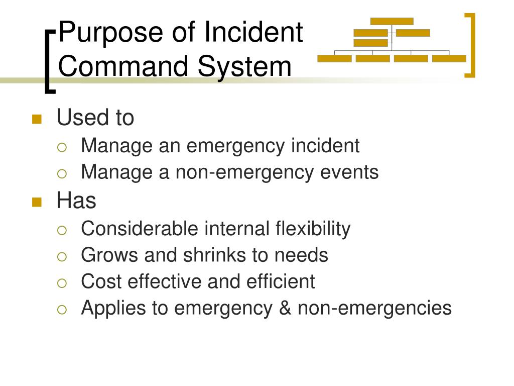 Purpose of Incident Command System