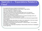 appendix c expectations related to fraud