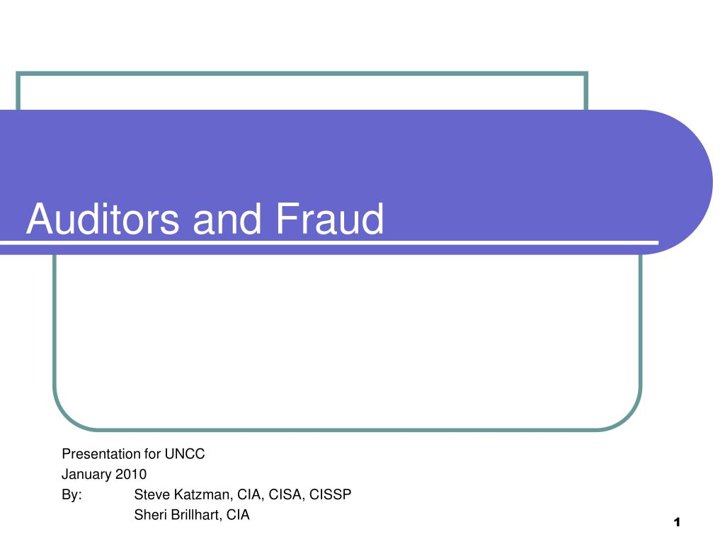 auditors and fraud l.