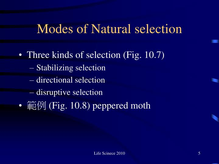 Modes of Natural selection