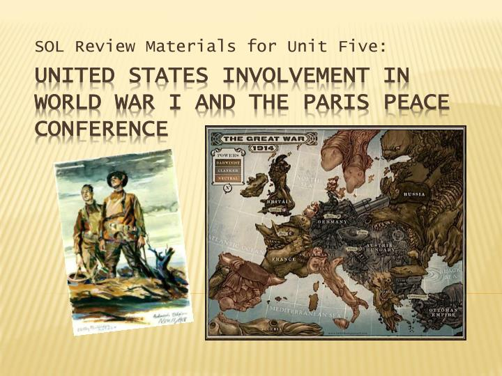 sol review materials for unit five n.