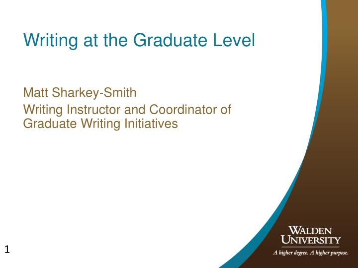 writing at the graduate level n.
